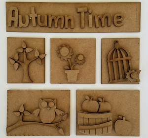 Autumn Time Shadow Box Kit