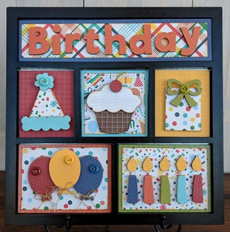 Happy Birthday Shadow Box Kit