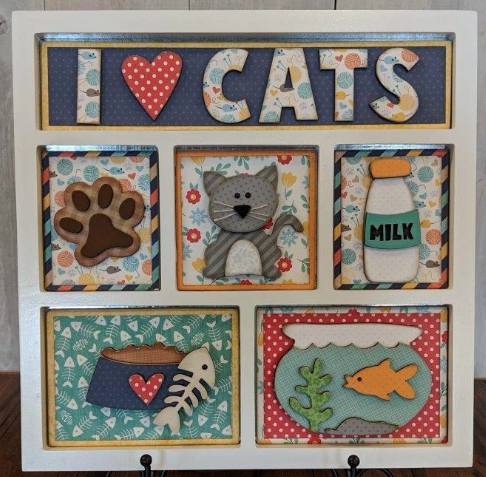 I LOVE CATS SHADOW BOX KIT