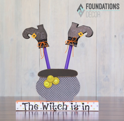 WITCH IN CAULDRON