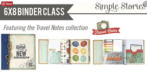 Travel Notes 6x8 Binder by Simple Stories