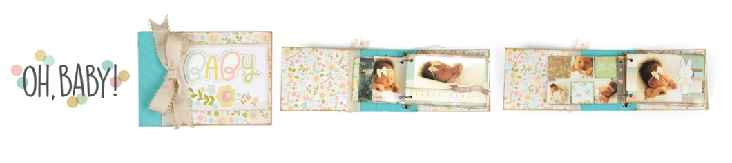 Oh  Baby!  4x6  Album Class kit by Simple Stories