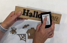 Halloween Shadow Box Kit ~ papers included