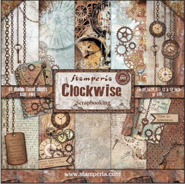 Stamperia Clockwise 12x12 Double-sided Paper Collection