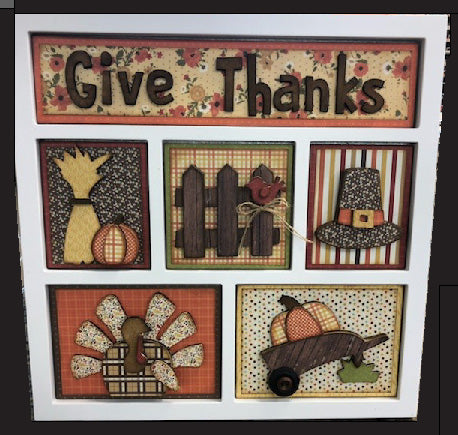 Thanksgiving Shadow Box Kit ~ papers included