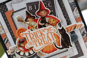 Vintage Halloween Button Farm Club Mini Album