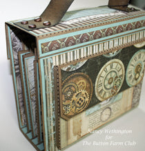 Voyage Fantastique Travel Mini Album by Nancy Wethington~TUTORIAL ONLY