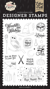 SENT BY AIR STAMP SET ~ Witches & Wizards Collection