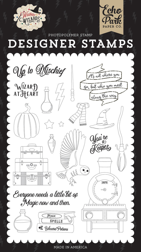 WIZARD AT HEART STAMP SET ~ Witches & Wizards Collection