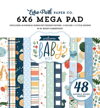 Welcome Baby Boy Cardmakers 6x6 Mega Pad