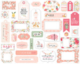 Welcome Baby Girl Frames & Tags