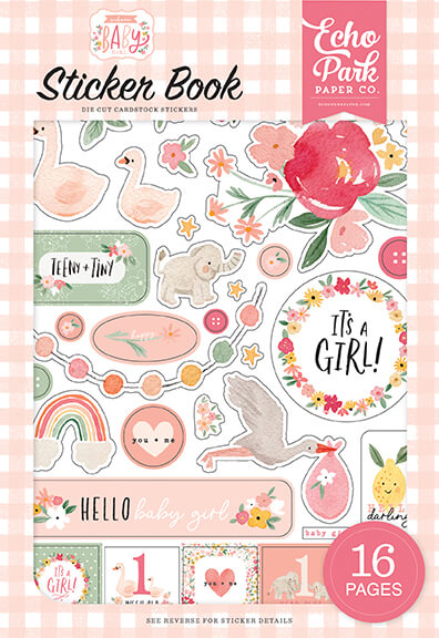 Welcome Baby Girl Sticker Book