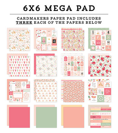 Welcome Baby Girl Cardmakers 6x6 Mega Pad