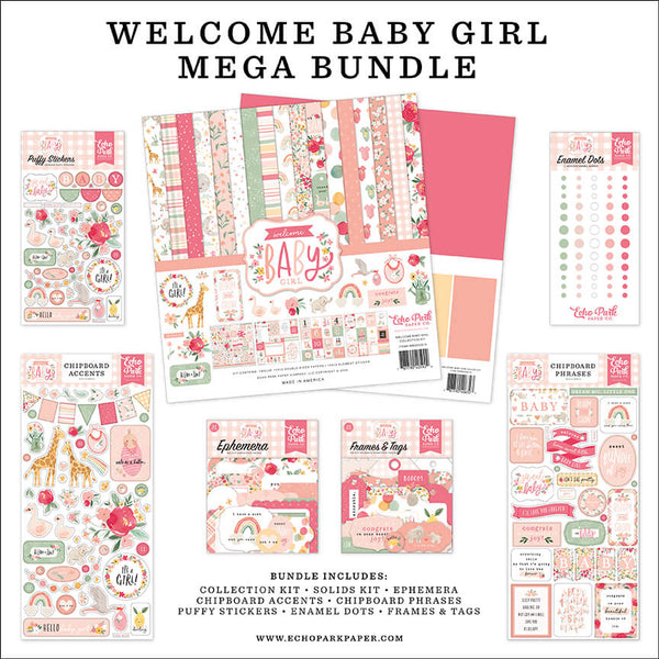 Welcome Baby Girl Mega Bundle
