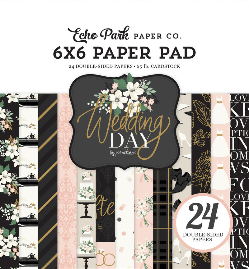 WEDDING DAY 6X6 PAPER PAD by ECHO PARK