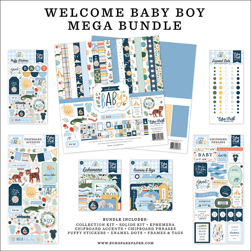 Welcome Baby Boy Mega Bundle
