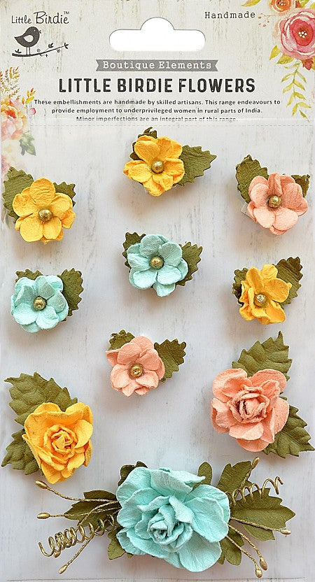 Little Birdie Handmade Flowers, Adelina Pastel Palette 10 pieces