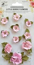 Little Birdie Handmade Flowers, Adelina Pearl Pink 10 pieces