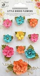 Little Bird Handmade Flowers, Adelina Vivid Palette 10 pieces