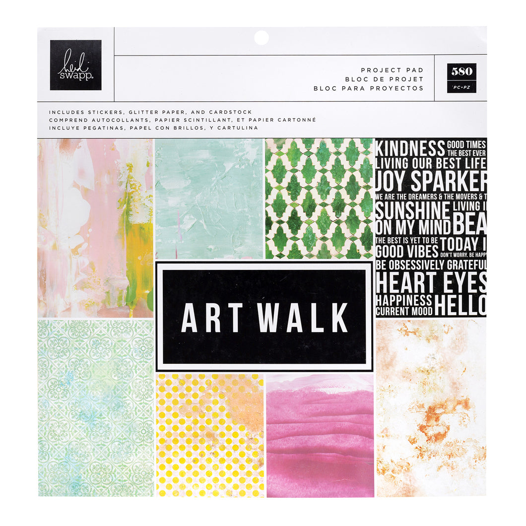 Heidi Swapp Art Walk Project Pad 12