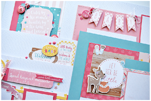 Hello Baby GIRL  Page Kit by Wendy Sue Anderson
