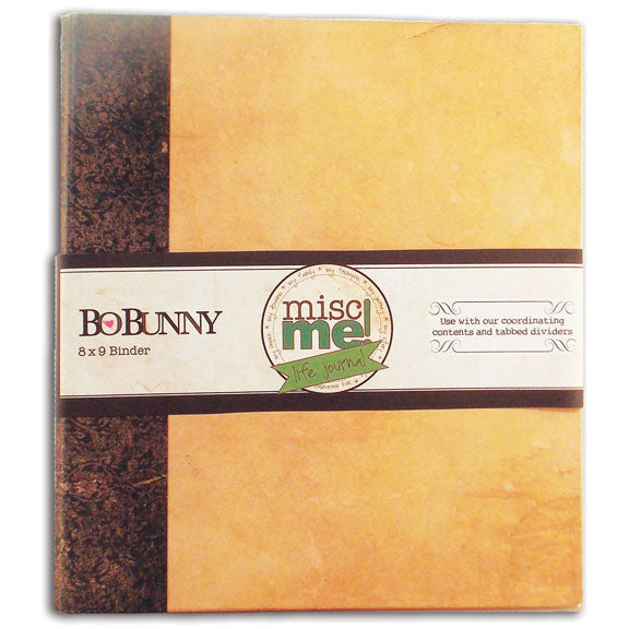 Bo Bunny Misc Me Life Journal 8x9 Kraft Binder