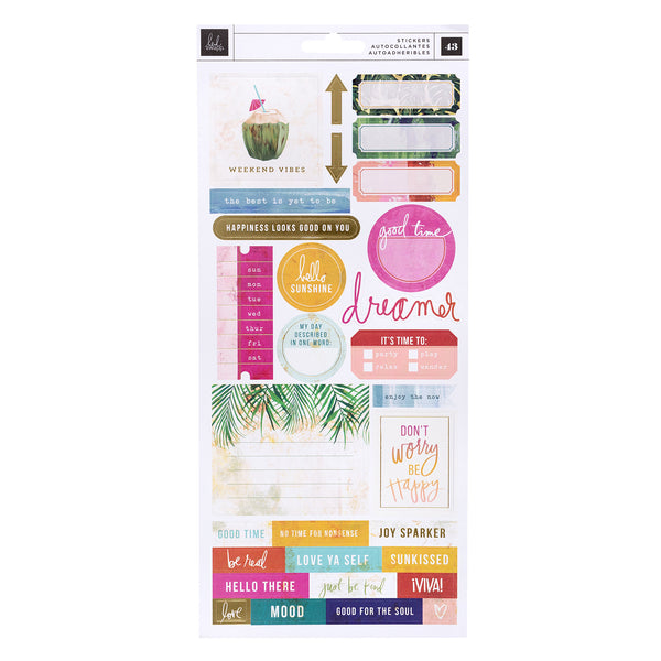Heidi Swapp Art Walk Cardstock Stickers 43/Pkg