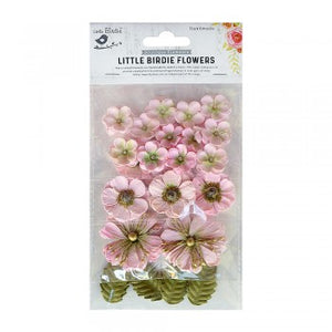 Little Birdie Handmade Flowers Renae, Pearl Pink 27 pieces