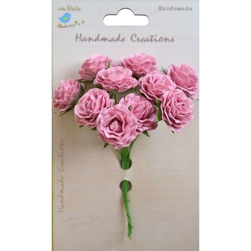 Little Birdie Handmade Flowers Cluster Rose , Pious Pink , 6 pieces