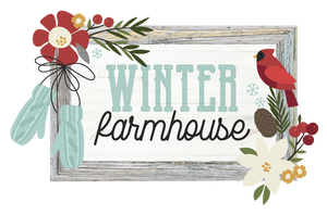 Winter Farmhouse Embellishment Kit