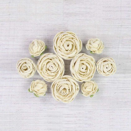 Little Birdie Handmade Flowers English Roses , Classic , 10 pieces