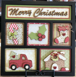 Christmas Shadow Box Kit ~ papers included