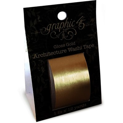 Graphic 45 Gloss Gold Architecture Washi Tape