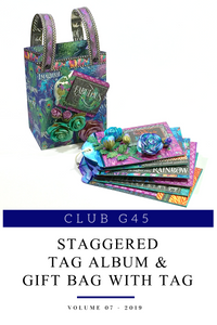 July Graphic 45 Monthly Class Series Vol 7 2019 - Kaleidoscope Tag Watercolor Album