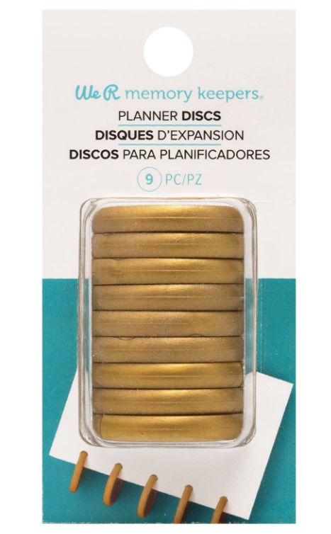 PLANNER DISCS - WR - CROP-A-DILE - DISC POWER PUNCH - GOLD (9 PIECE) ~ Shipping in November