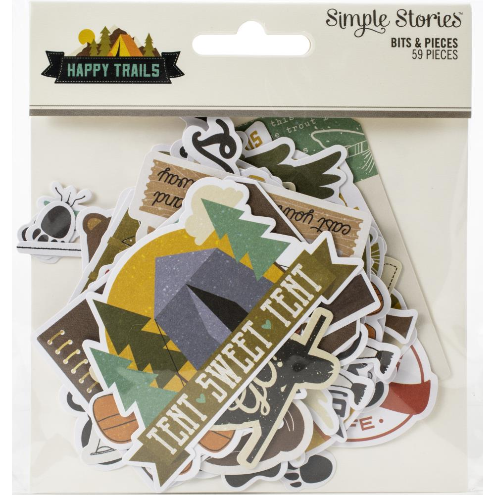 Happy Trails Bits & Pieces Die-Cuts 59/Pkg
