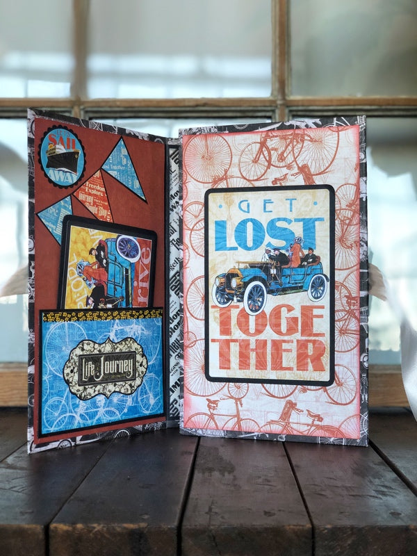 Graphic 45 Monthly Class Series Vol 12 2019 - Life is a Journey  Wrap Folio Mini Album & Tag Trio