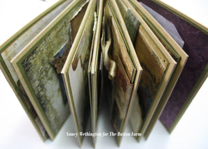 Blue Fern Eclectic Charm Mini Album ~ By Nancy Wethington ~ Tutorial only