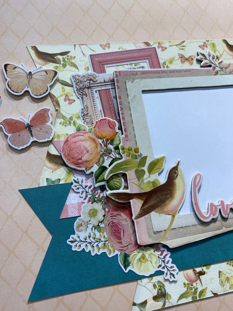 Simple Vintage Garden District Page Kit by Simple Stories