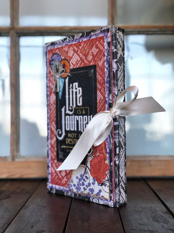 December Graphic 45 Monthly Class Series Vol 12 2019 - Life is a Journey  Wrap Folio Mini Album & Tag Trio