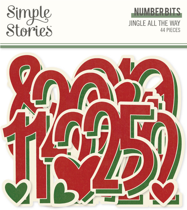 Jingle All the Way Number Bits by Simple Stories