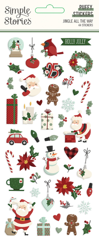 Jingle All the Way Puffy Stickers by Simple Stories