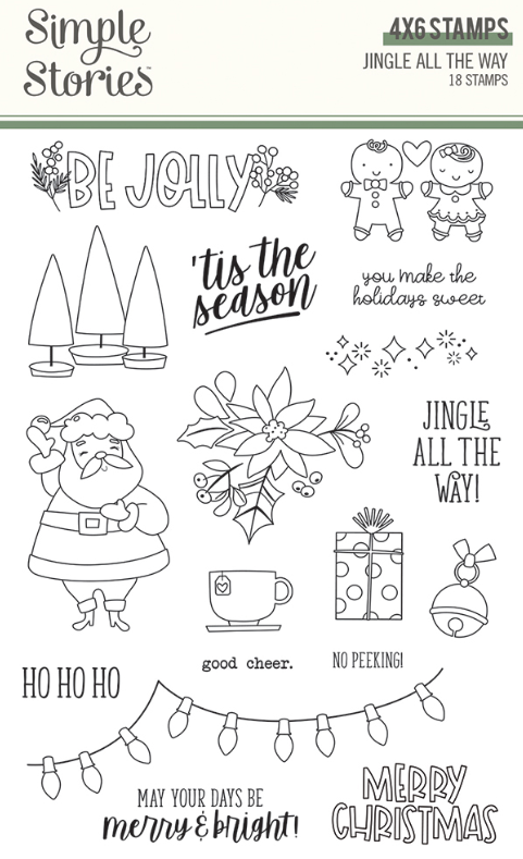 Jingle All the Way Stamps by Simple Stories