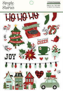 Jingle All the Way Sticker Book by Simple Stories **SHIPPING JULY**