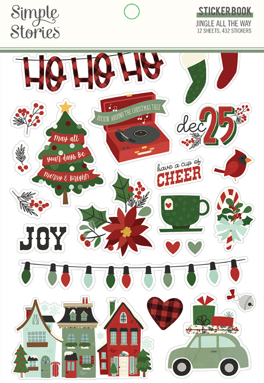 Jingle All the Way Sticker Book by Simple Stories