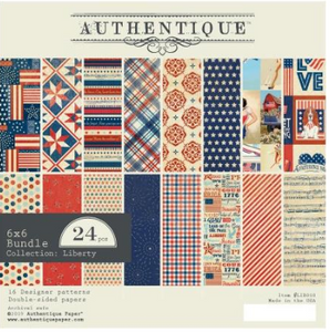 "Liberty Authentique Double-Sided Cardstock Pad 6""X6"" 24/Pkg"