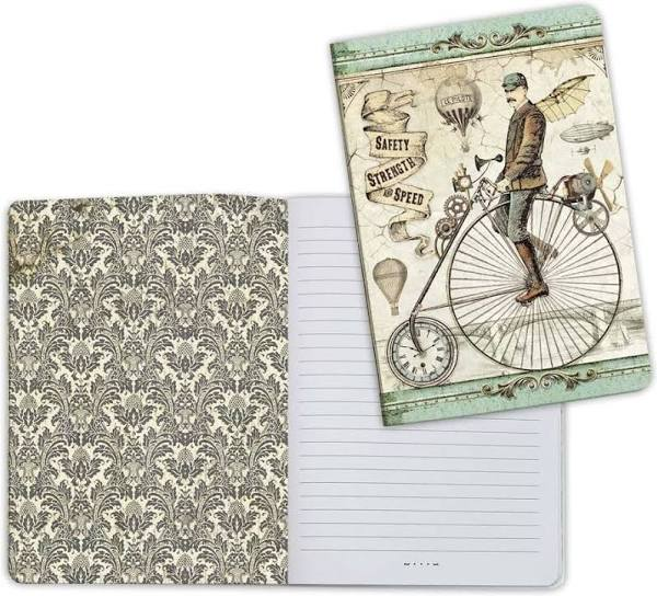 Notebook A5 Voyages Fantastiques Bicycle by Stamperia