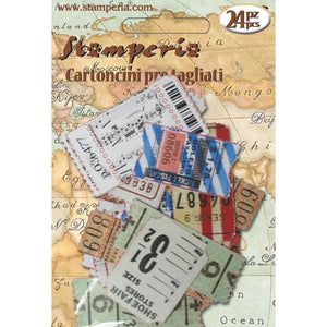 Stamperia Memories Pre Cut Postage Stamps 24 pieces