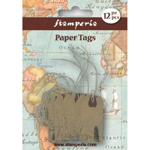 Stamperia Paper Tags Monuments 12 pieces