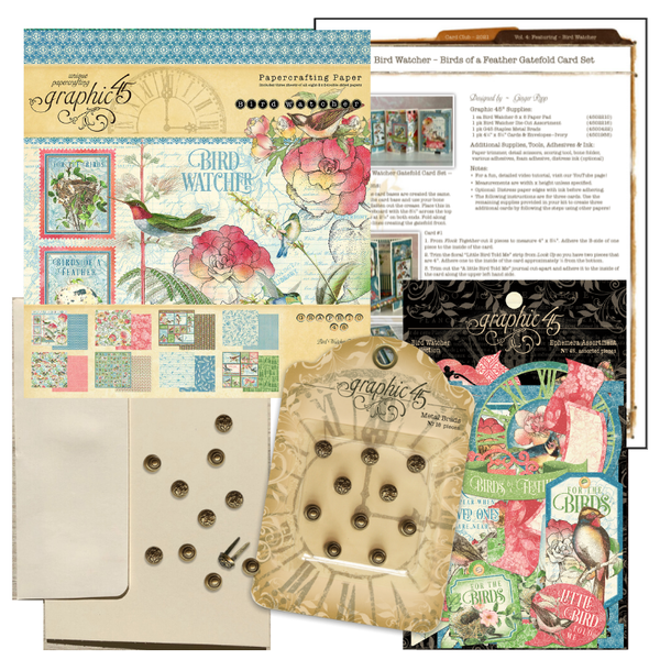 April Graphic 45 Bird Watcher Gatefold Card Set ~ Vol 4 - 2021